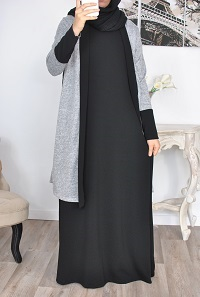 long tuniq muslim dress modest fashion abaya hijaber hijabista